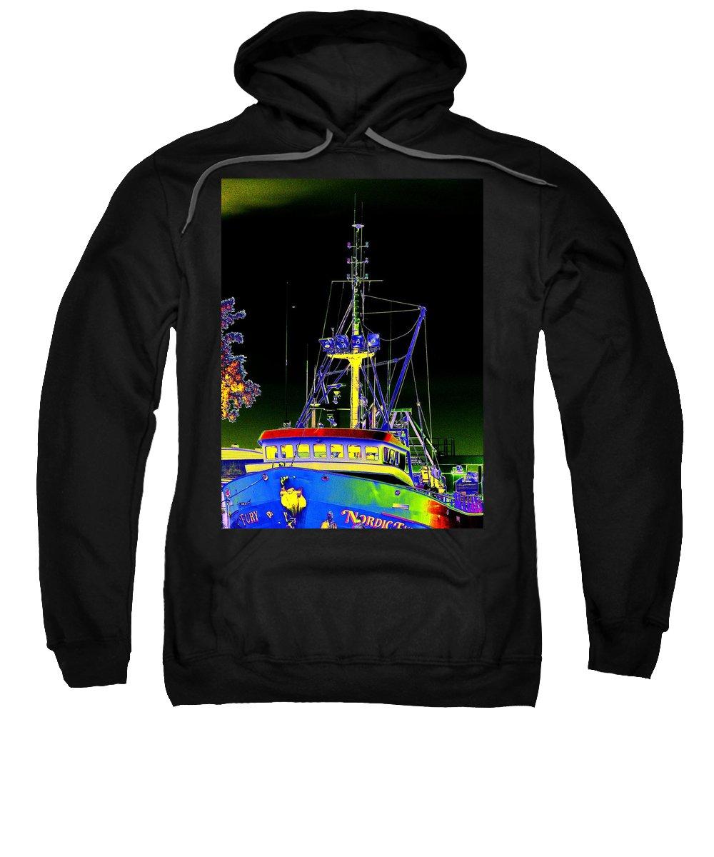 Seattle Sweatshirt featuring the digital art Nordic Fury by Tim Allen