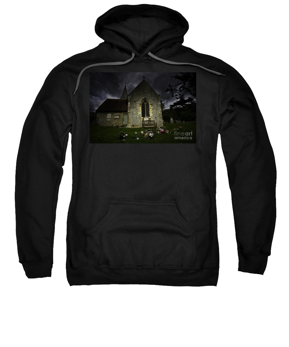 Church Sweatshirt featuring the photograph Norman Church At Lissing Hampshire England by Sheila Smart Fine Art Photography