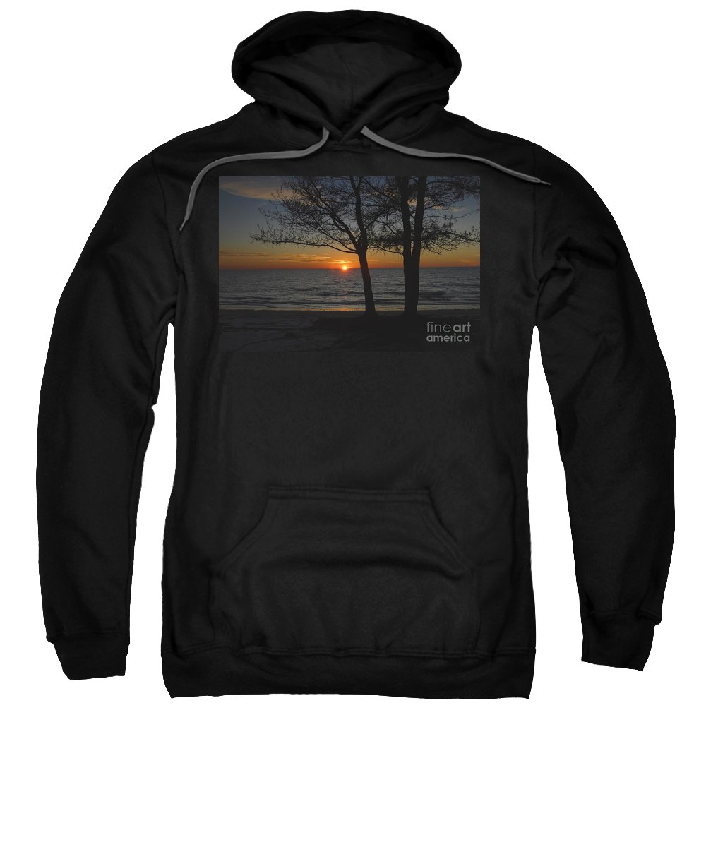 Beach Sweatshirt featuring the photograph North Beach Sunset by David Lee Thompson