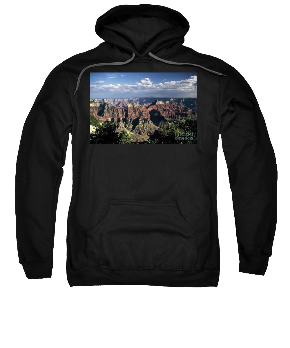 Grand Canyon; National Parks Sweatshirt featuring the photograph North Rim by Kathy McClure
