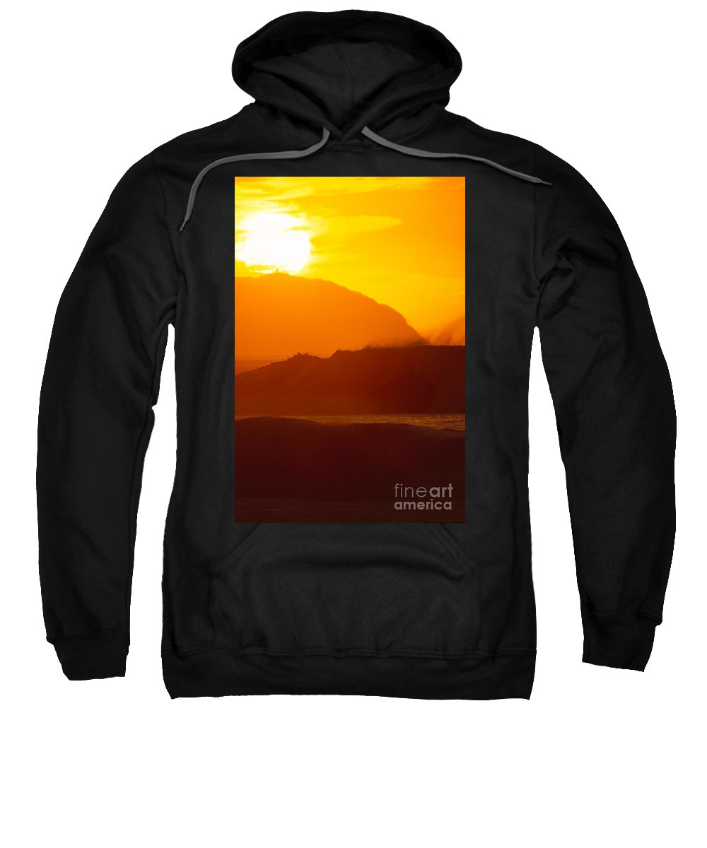 Afternoon Sweatshirt featuring the photograph North Shore Sunset by Erik Aeder - Printscapes