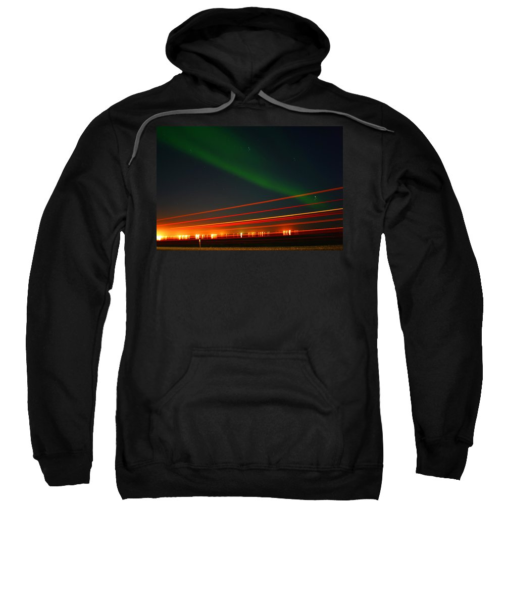 Northern Lights Sweatshirt featuring the photograph Northern Lights by Anthony Jones