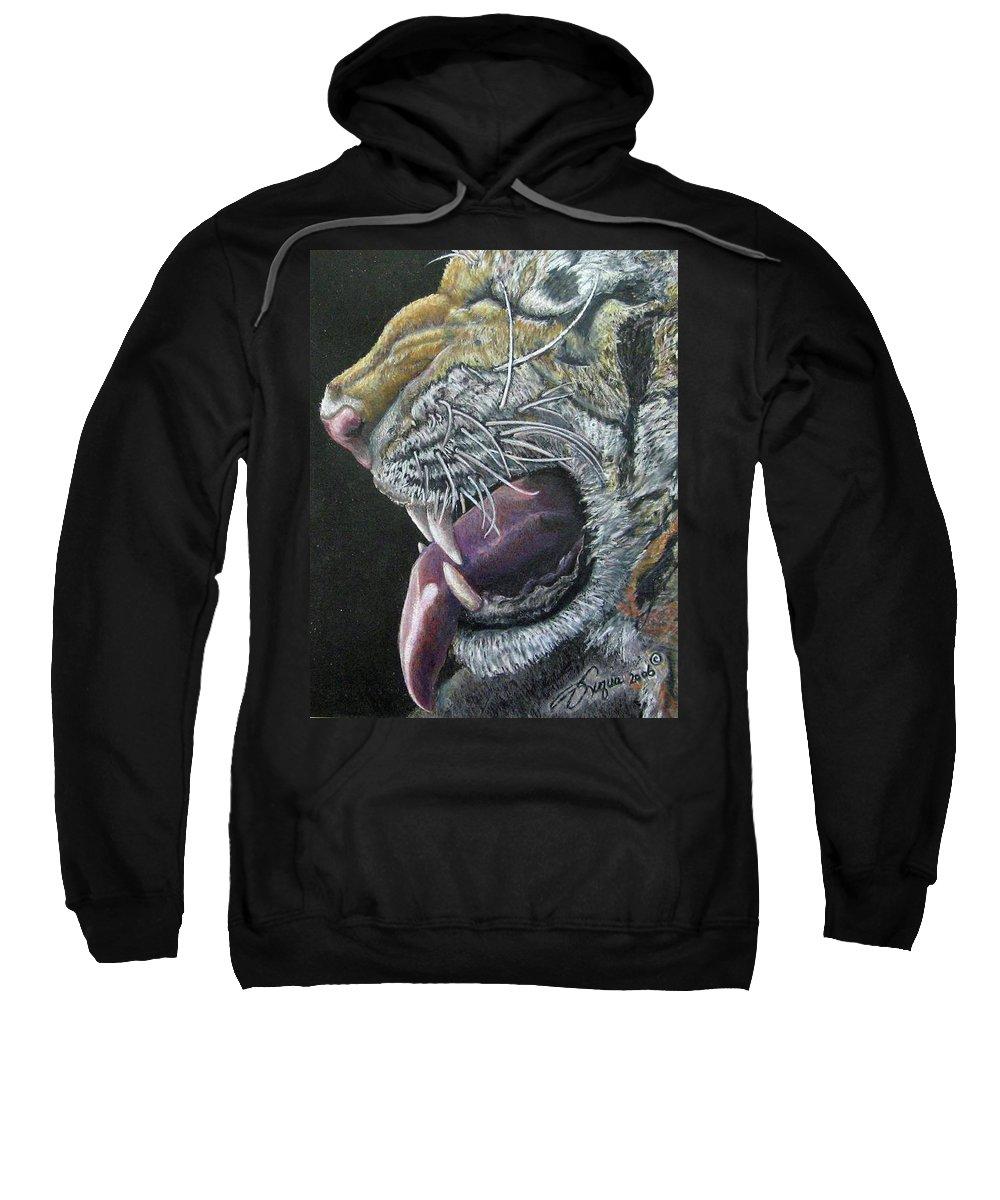 Wildlife Sweatshirt featuring the drawing Not Hamburger Again by Beverly Fuqua