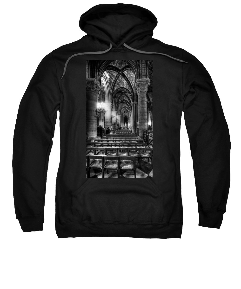 Notre Dame Cathedral Sweatshirt featuring the photograph Notre Dame Cathedral by Charuhas Images
