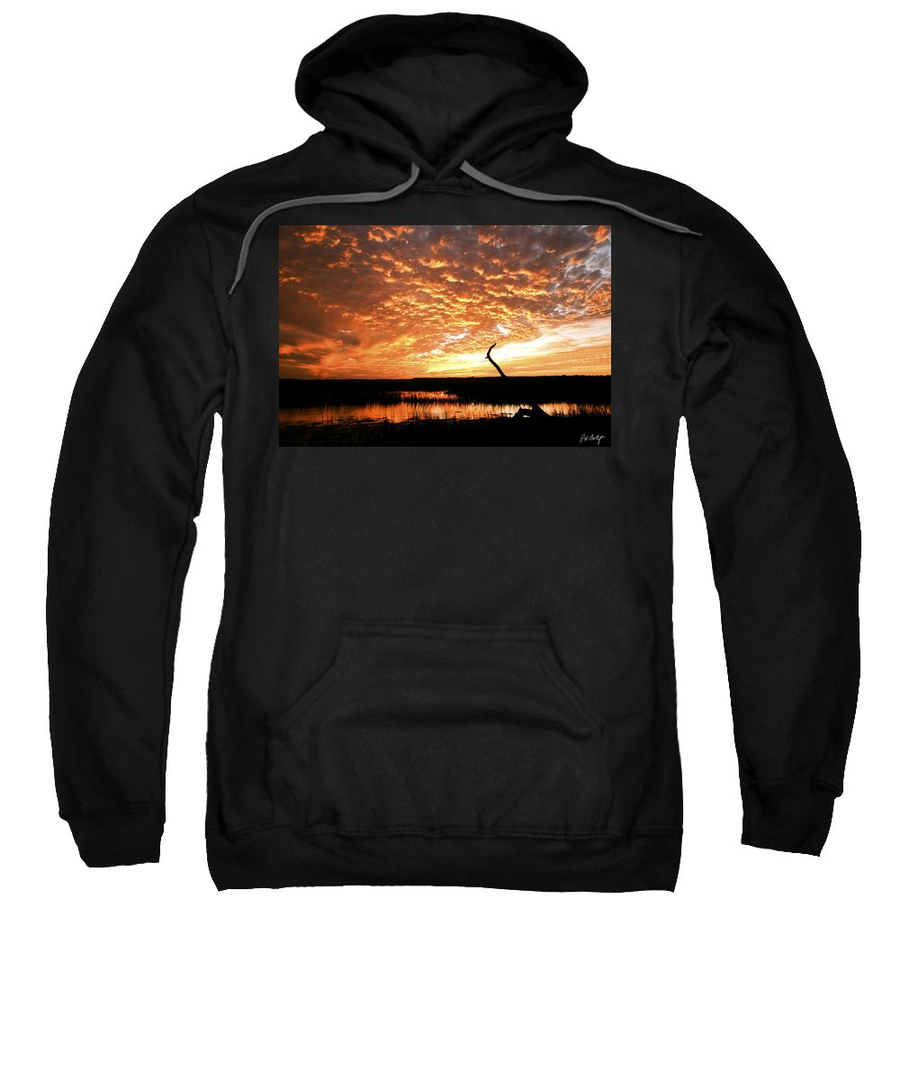 Sunset Sweatshirt featuring the photograph November Evening by Phill Doherty