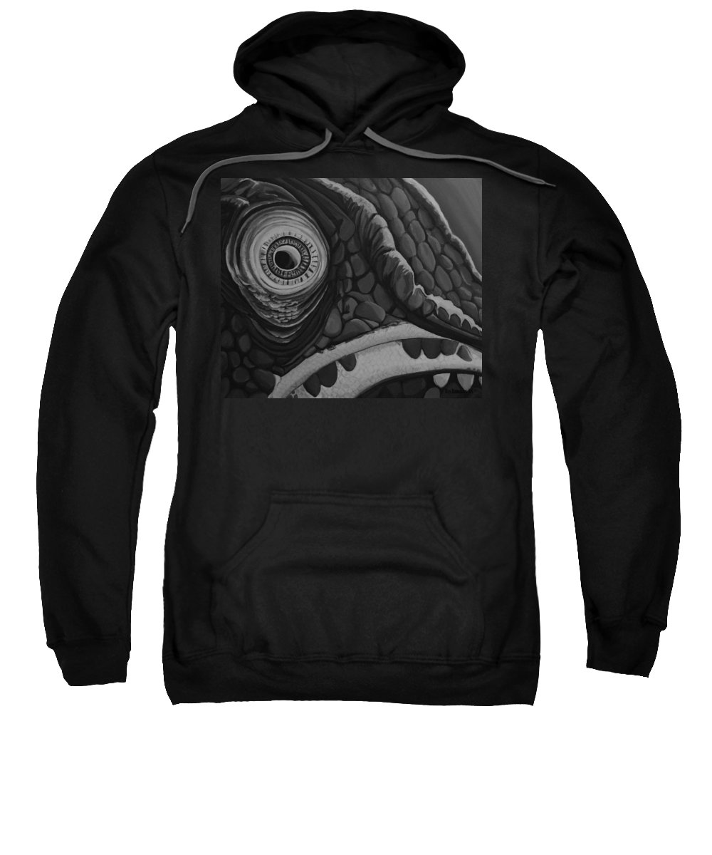 Roy Ramakers Sweatshirt featuring the painting Nowuseeme... by Roy Ramakers
