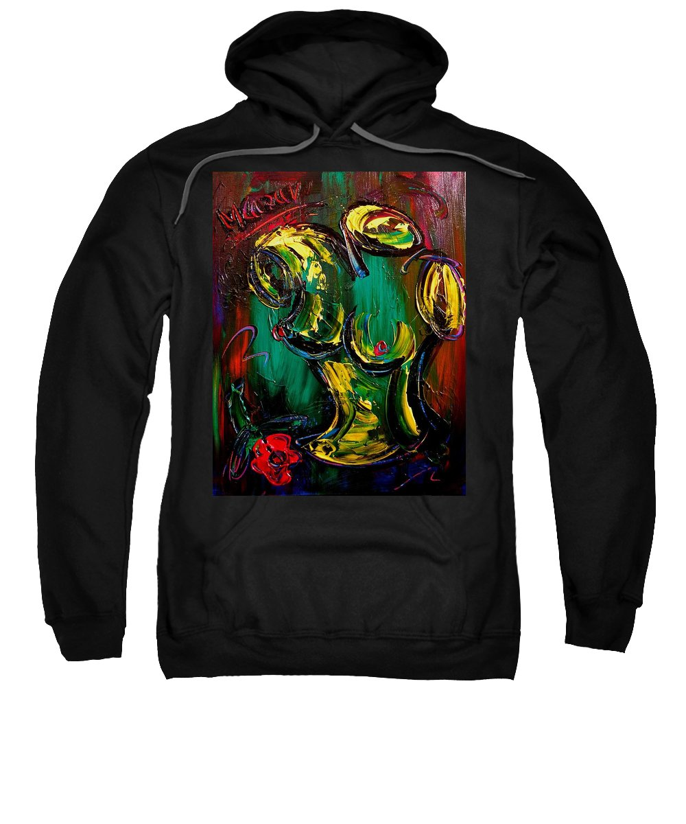 Amazing Framed Prints Sweatshirt featuring the painting Nude Painting by Mark Kazav