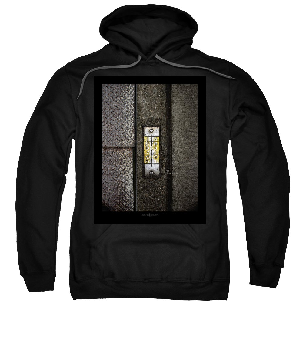 Numbers Sweatshirt featuring the photograph Numbers On The Sidewalk by Tim Nyberg