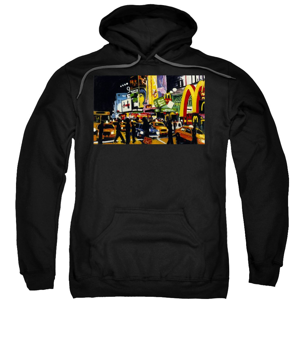 New York Sweatshirt featuring the painting Nyc II The Temple Of M by Robert Reeves