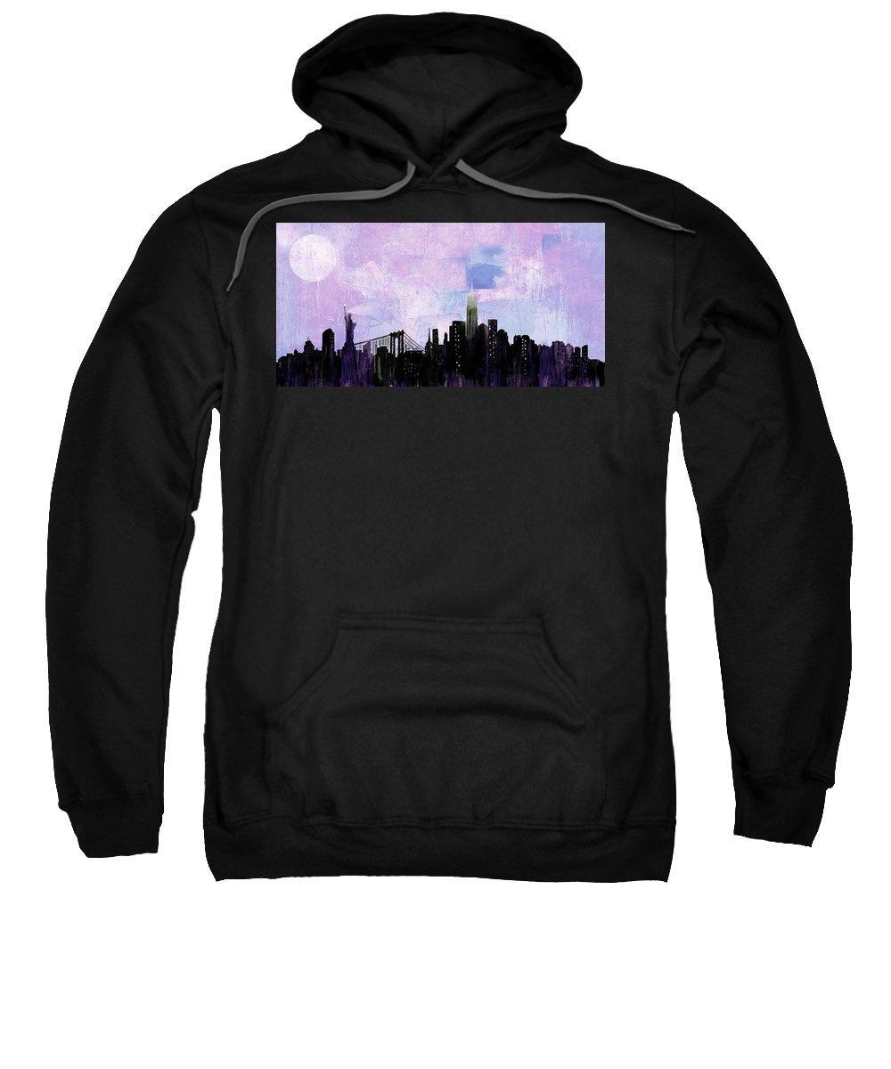 New York City Sweatshirt featuring the digital art Nyc Skyline by Paul Scott