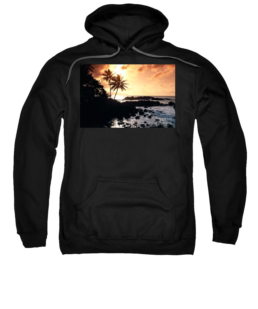 Afternoon Sweatshirt featuring the photograph Oahu, North Shore by Bill Schildge - Printscapes