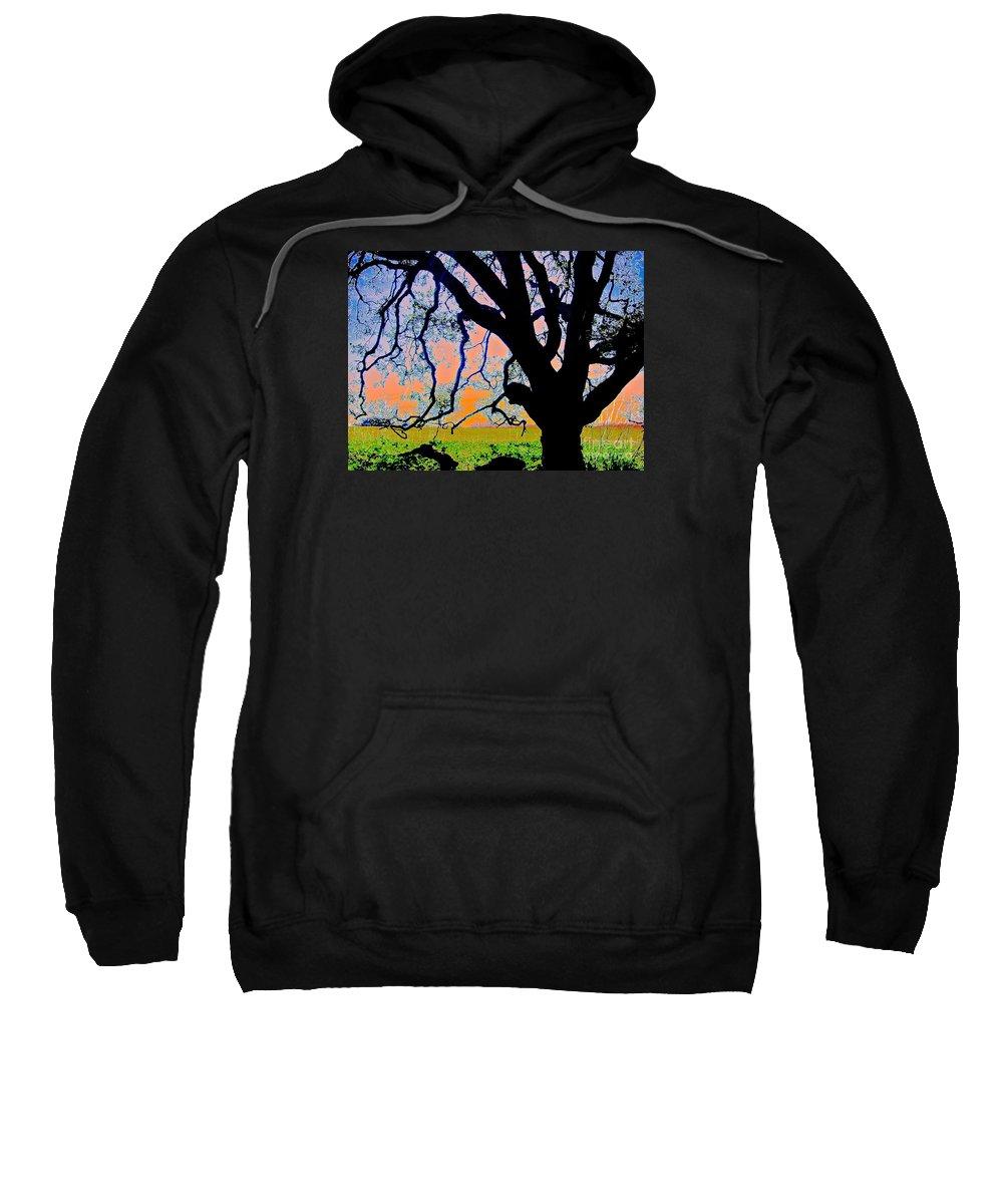 Oak At Elkhorn Sweatshirt featuring the photograph Oak At Elkhorn by Scott L Holtslander