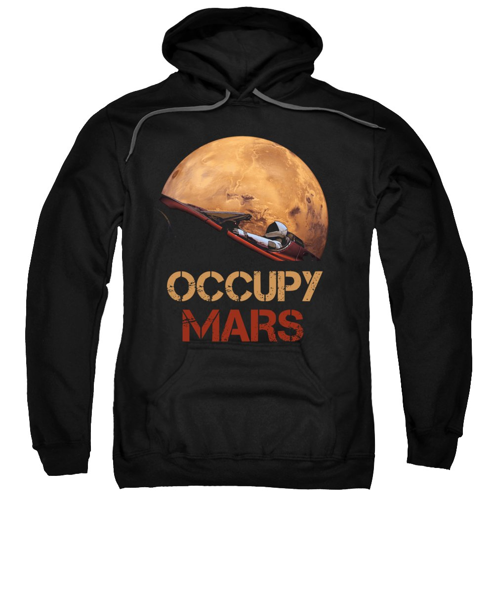 Occupy Mars Sweatshirt featuring the mixed media Occupy Mars by Filip Schpindel
