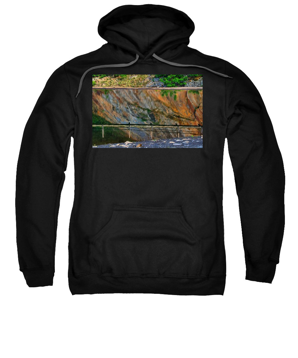 Ocoee Dam Sweatshirt featuring the photograph Ocoee Dam Reflection by Kathryn Meyer