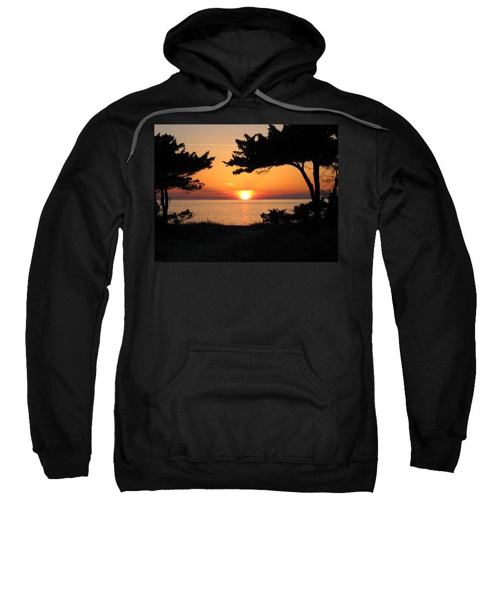 Ocracoke Sweatshirt featuring the photograph Ocracoke Island Winter Sunset by Wayne Potrafka