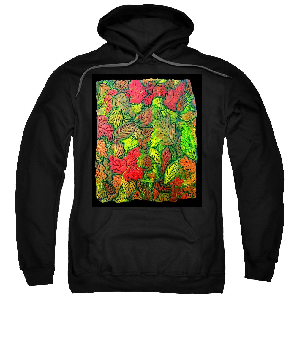 Leaves Sweatshirt featuring the painting October 21st. by Wayne Potrafka