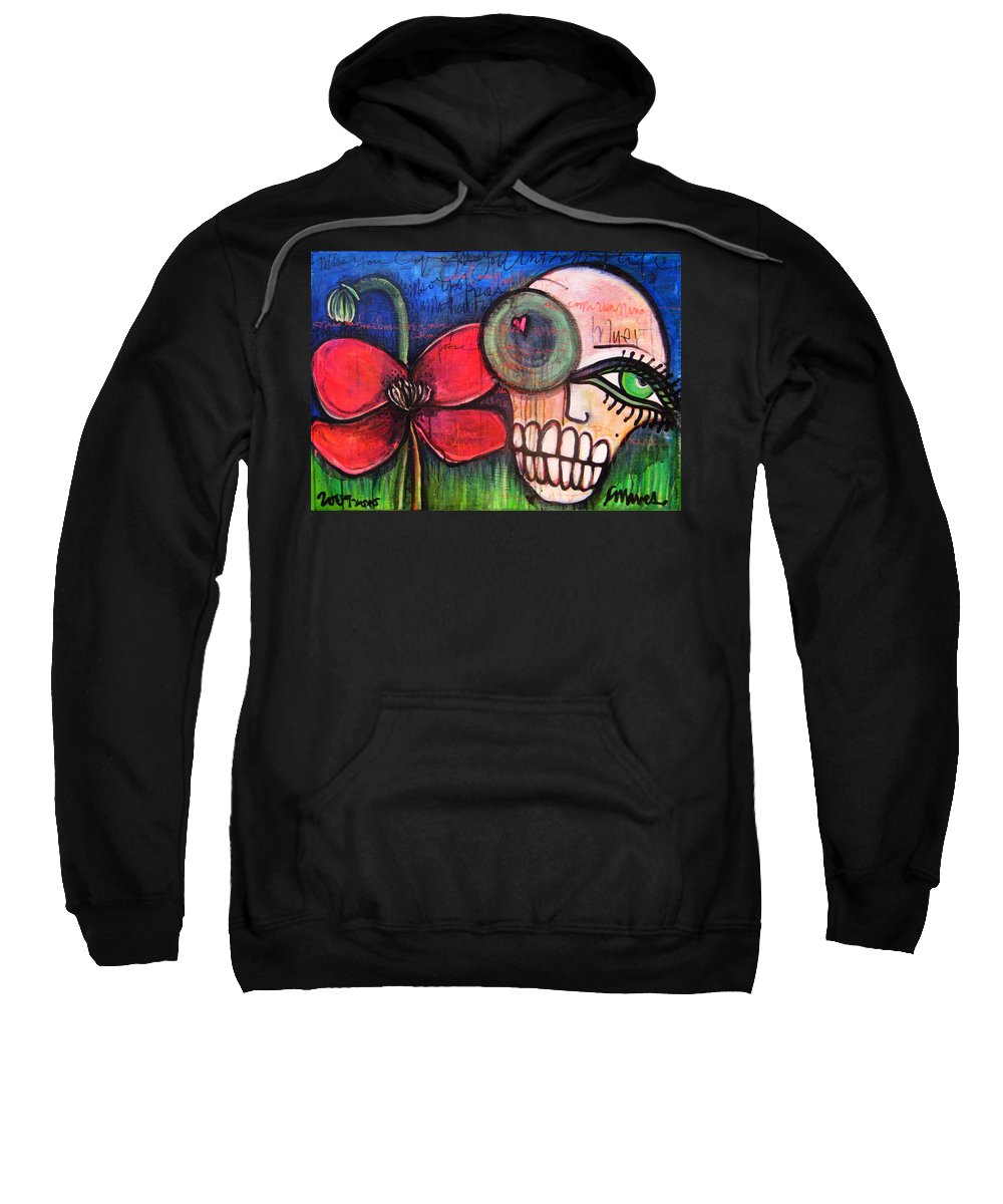 Skulls Sweatshirt featuring the painting Ode To Kings by Laurie Maves ART