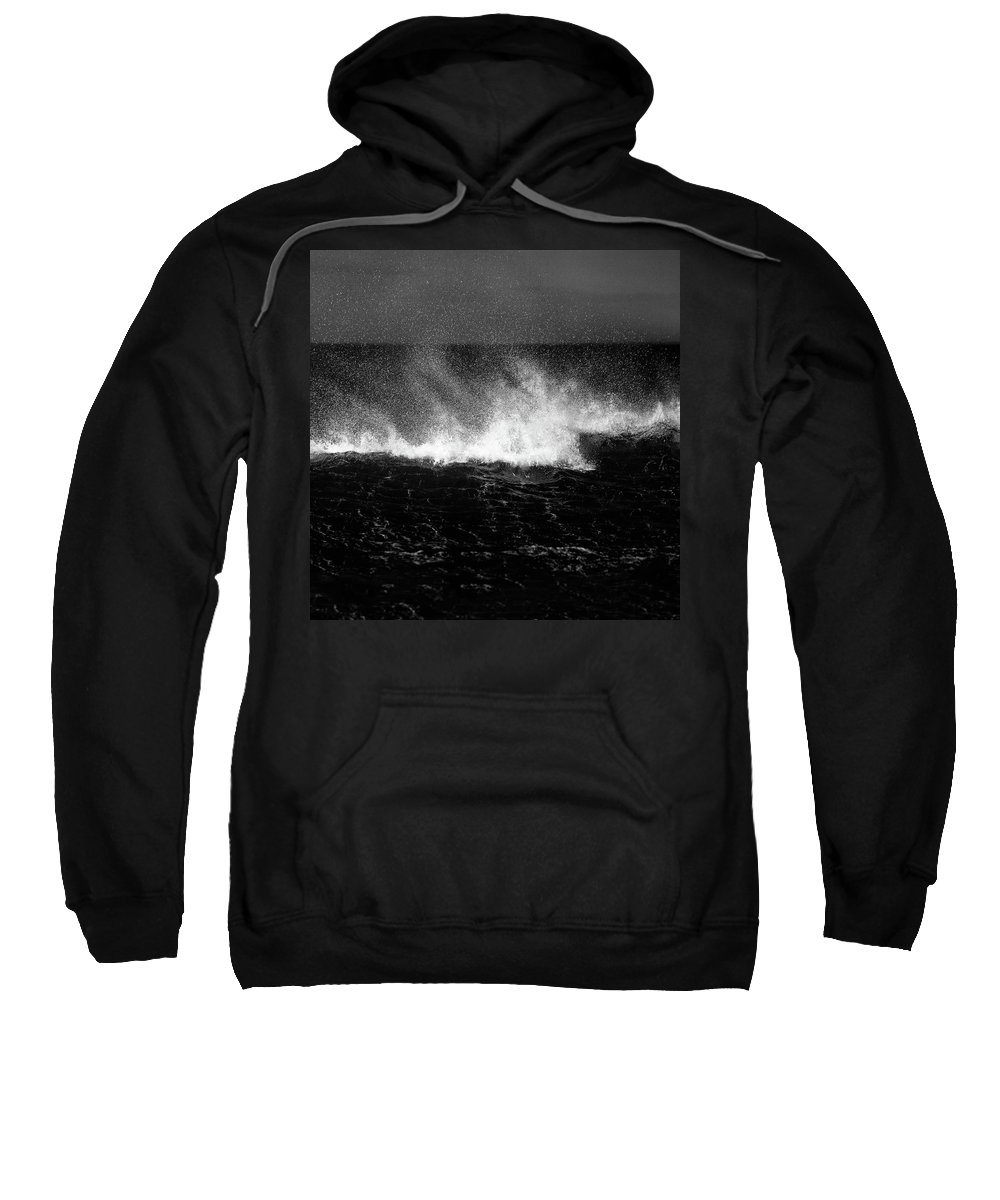 Waves Sweatshirt featuring the photograph Offshore by Dave Bowman