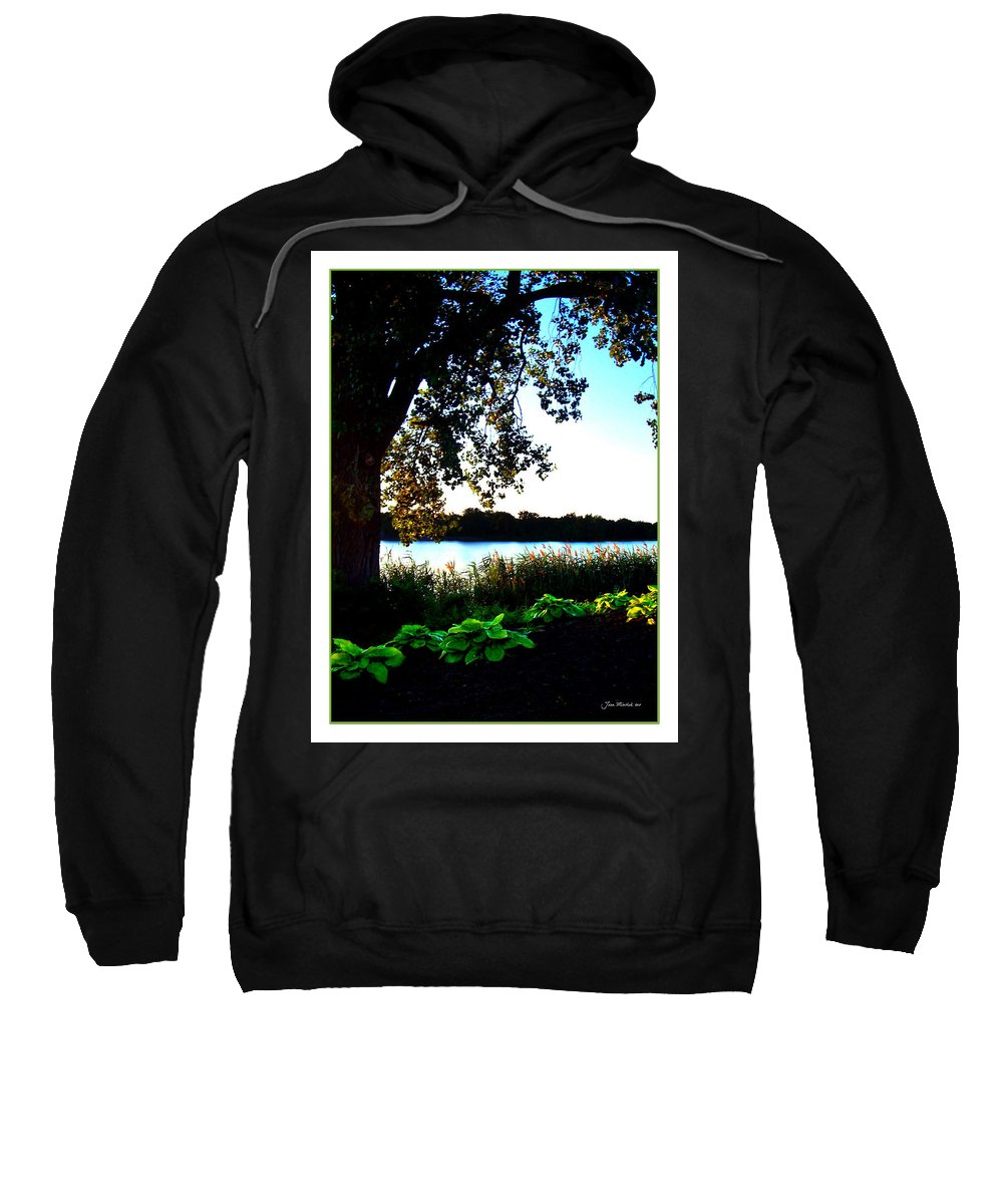 Blue Sweatshirt featuring the photograph Ohio Pond by Joan Minchak