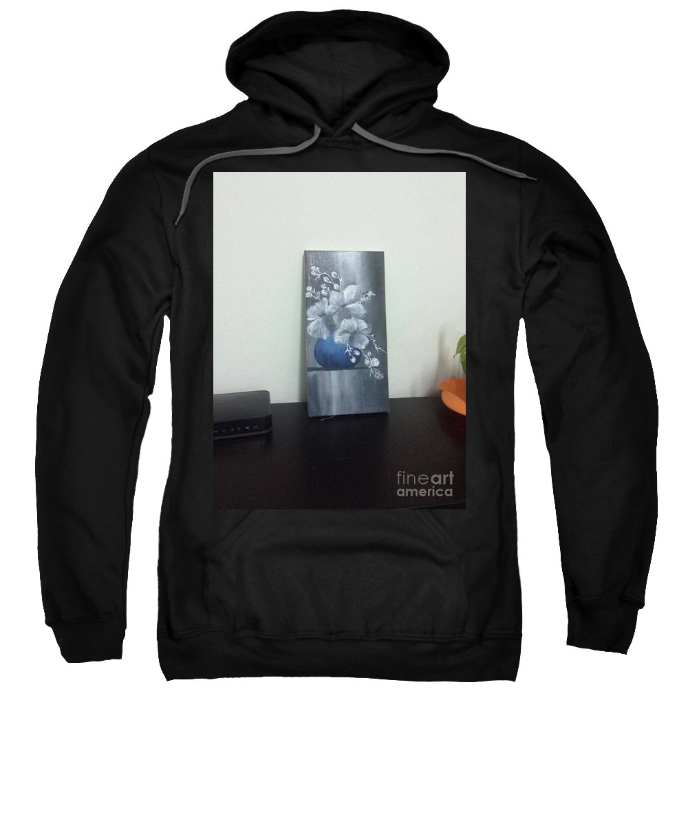 Flower Sweatshirt featuring the painting Oil Painting by KhaledaLipu