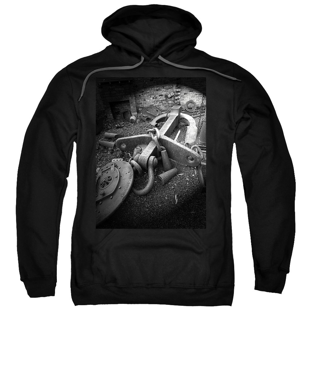 Cast Iron Sweatshirt featuring the photograph Old Anchor by Bob Kemp