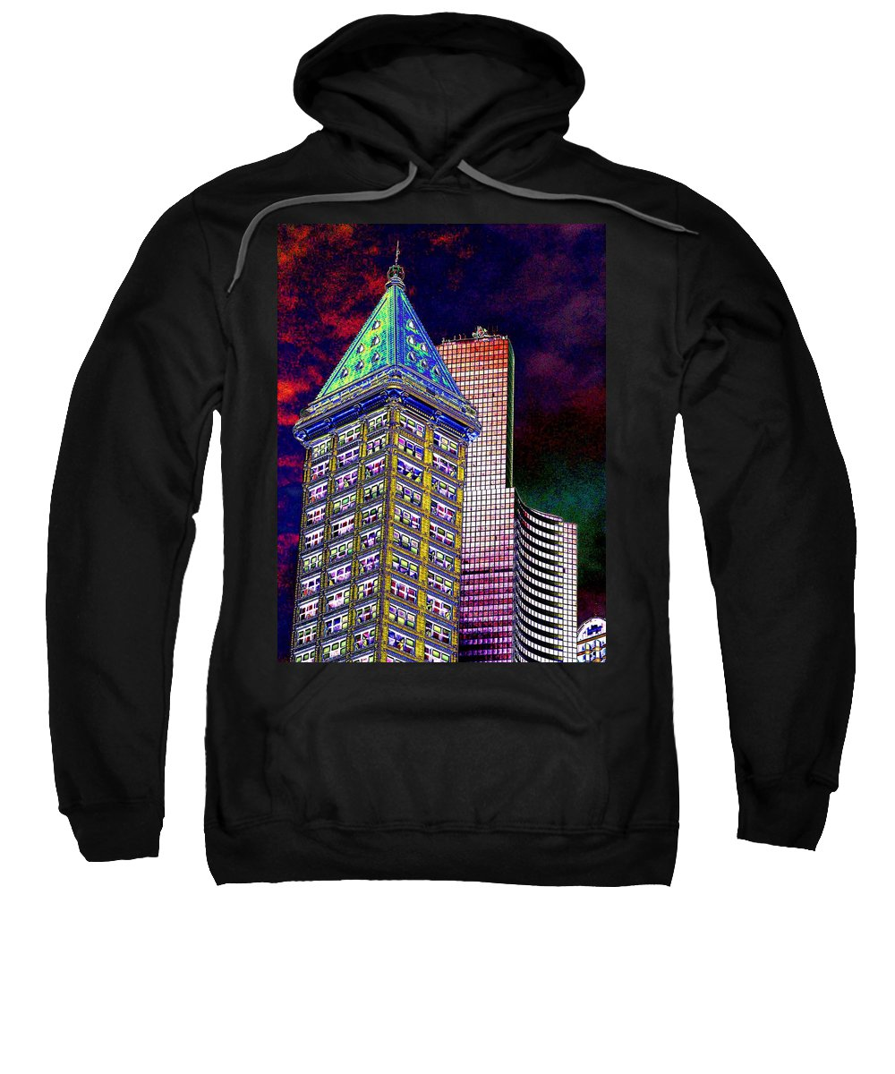 Seattle Sweatshirt featuring the photograph Old And New Seattle 2 by Tim Allen