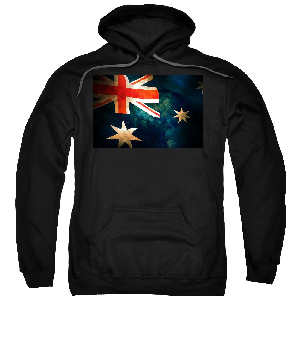 Australia Sweatshirt featuring the photograph Old Australian Flag by Phill Petrovic