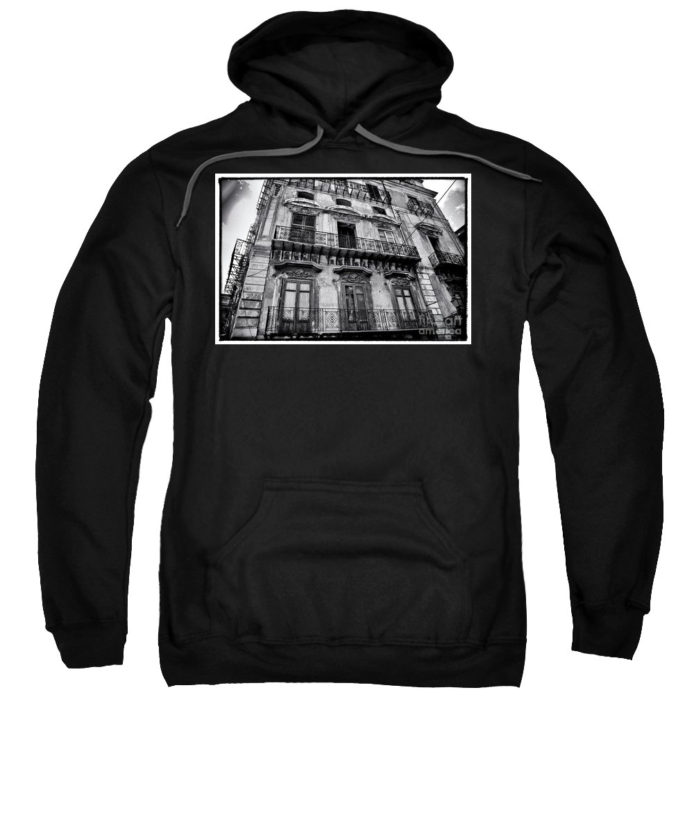 Sicily Sweatshirt featuring the photograph Old Building In Sicily by Madeline Ellis