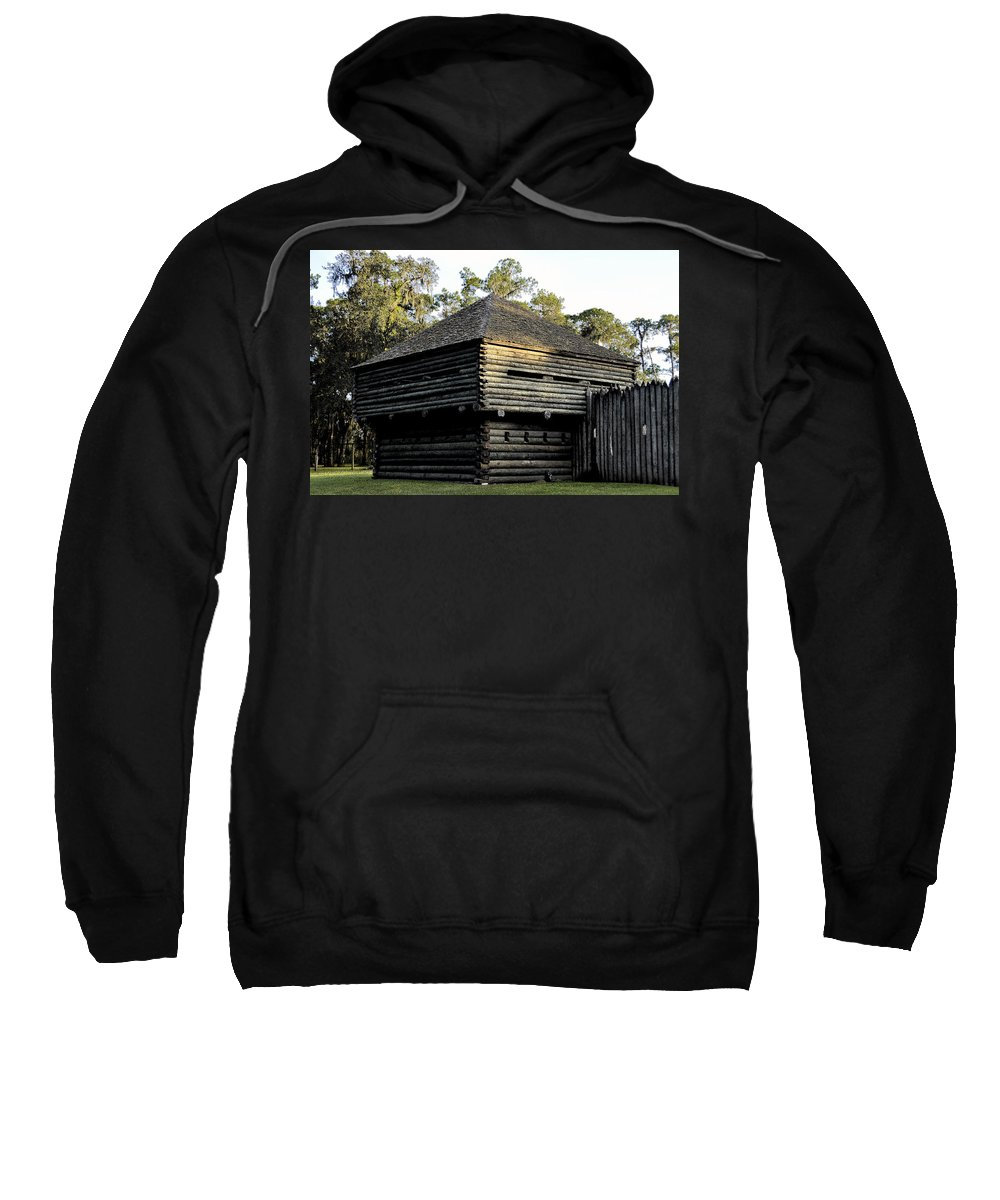Fort Foster Sweatshirt featuring the painting Old Fort Foster by David Lee Thompson