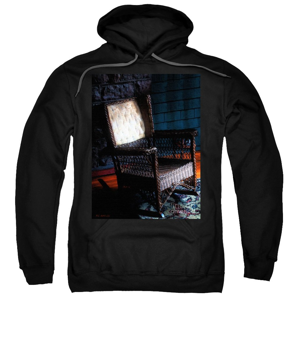 Rocking Chair Sweatshirt featuring the painting Old Homestead Sunset by RC DeWinter