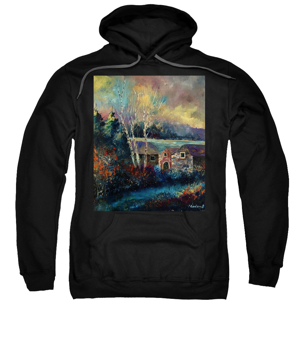 Village Sweatshirt featuring the painting Old Houses In Hour by Pol Ledent