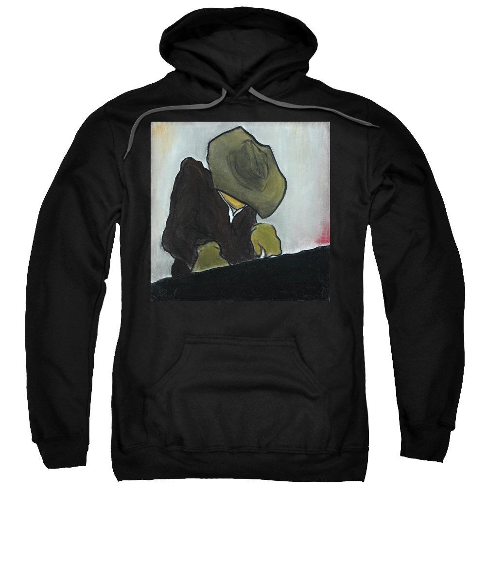 Piano Sweatshirt featuring the pastel Old Jazz by Jeff Lethcoe