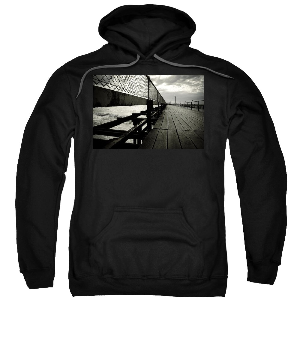 Old Sweatshirt featuring the photograph Old Jetty by Kelly Jade King