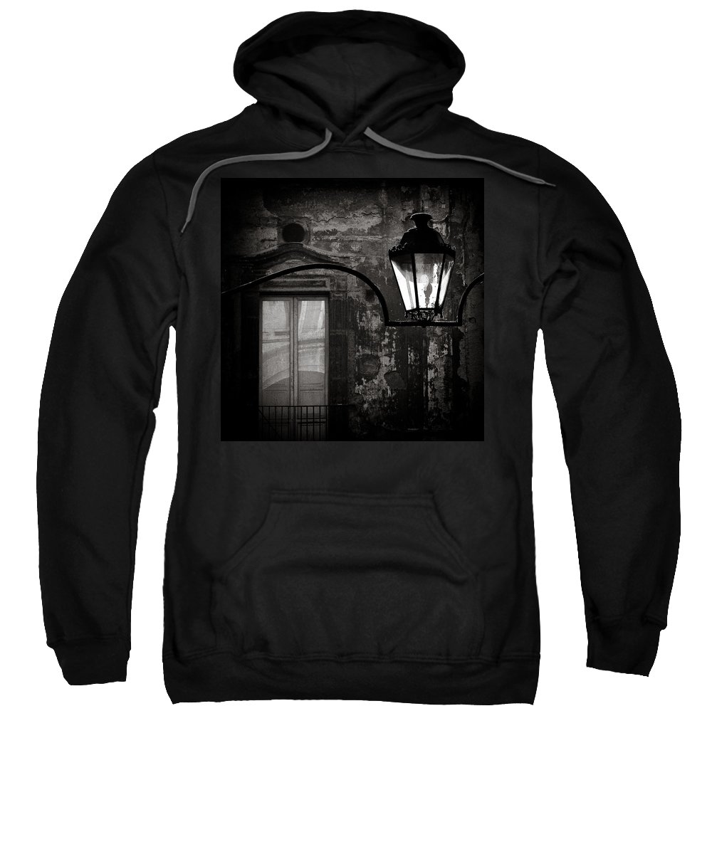 Naples Sweatshirt featuring the photograph Old Lamp by Dave Bowman