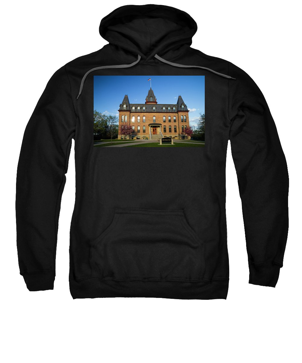 Minnesota Sweatshirt featuring the photograph Old Main Spring Evening by Joe Miller