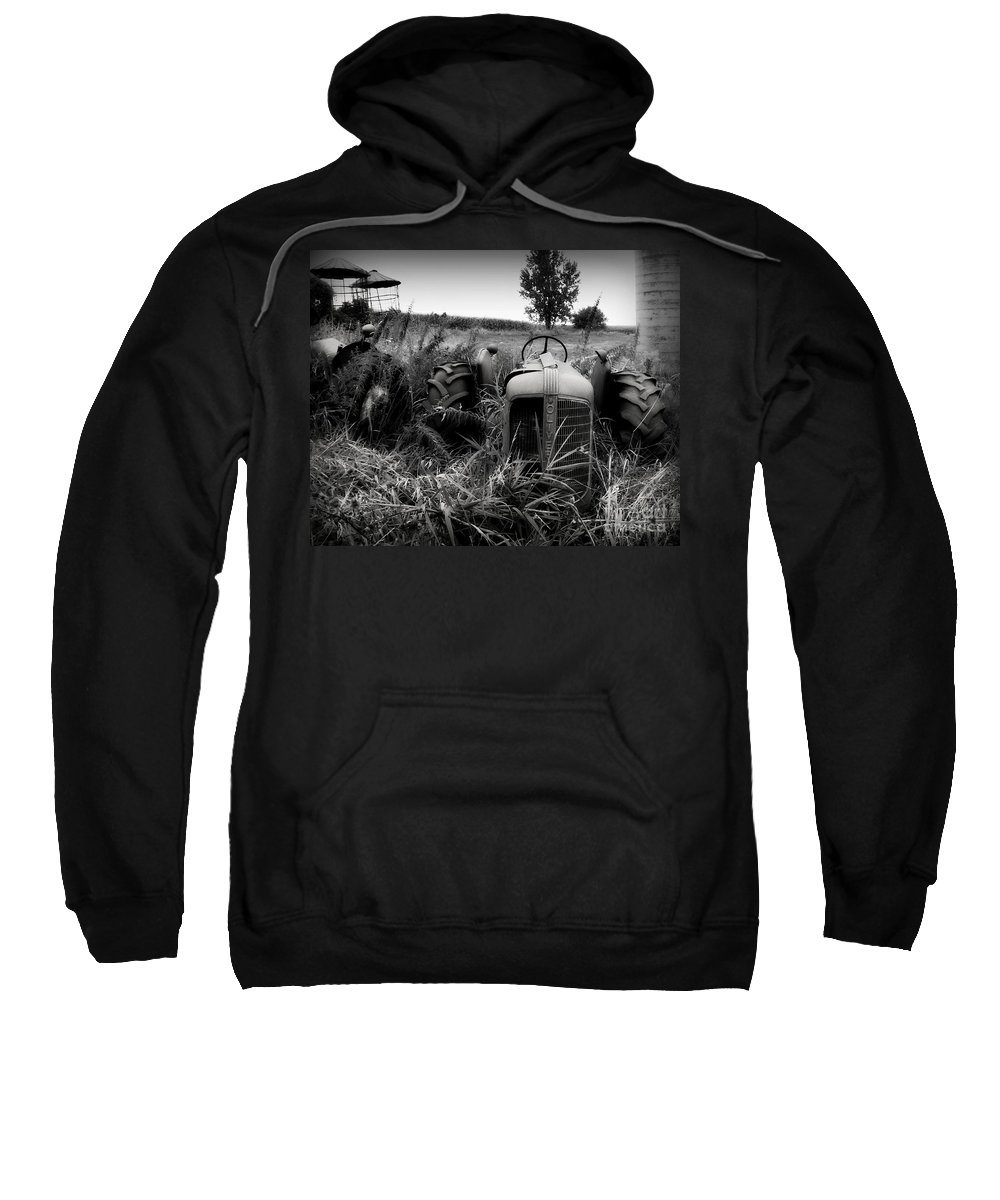 Tractor Sweatshirt featuring the photograph Old Oliver 2 by Perry Webster