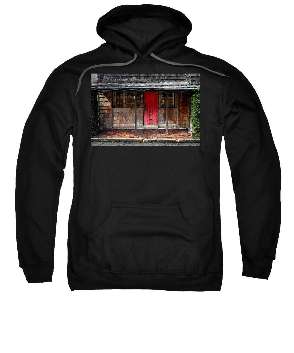 Door Sweatshirt featuring the photograph Old Red Door by Christopher Holmes