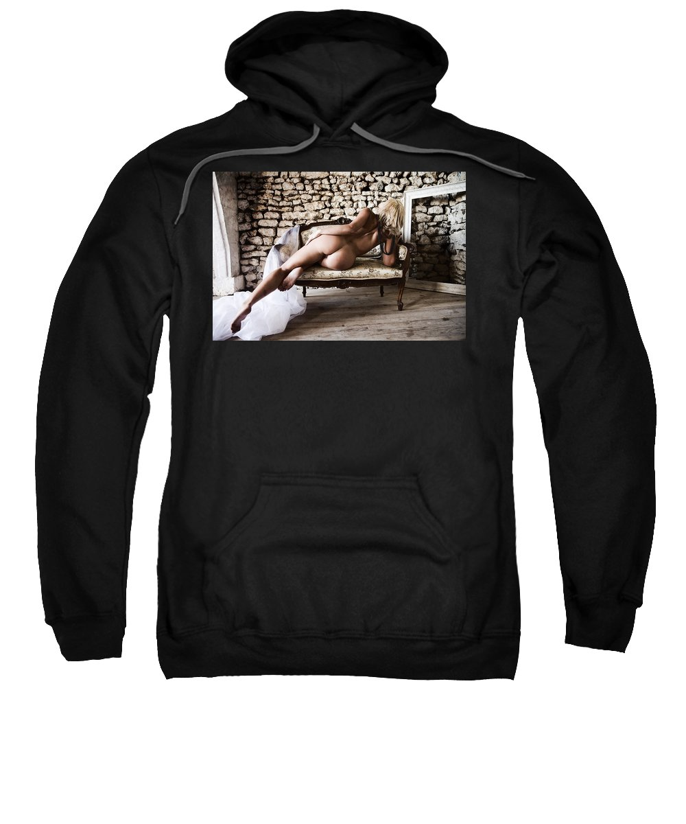 Sensual Sweatshirt featuring the photograph Old Room by Olivier De Rycke