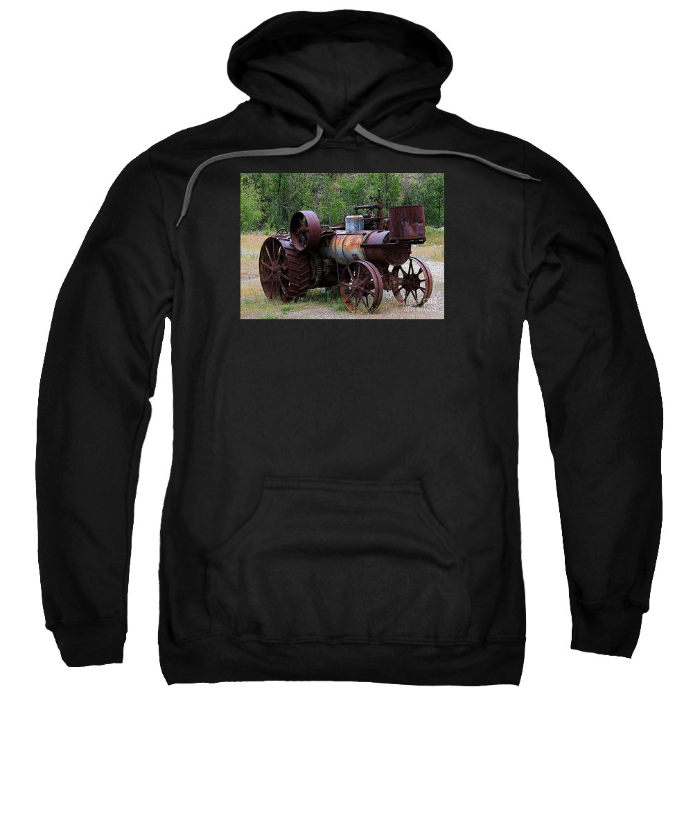 Farm Sweatshirt featuring the photograph Old Steam Tractor by Penny Haviland