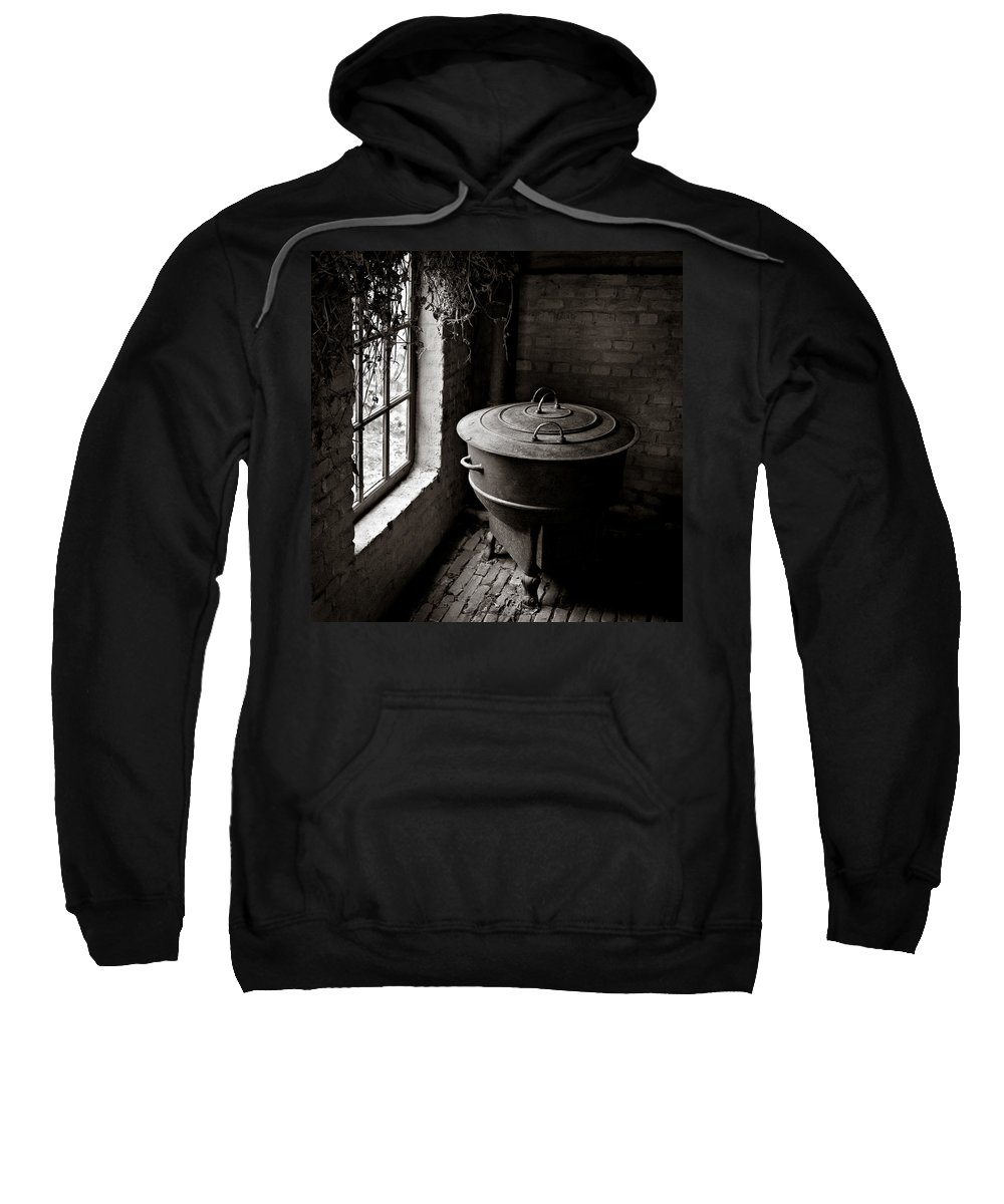 Old Sweatshirt featuring the photograph Old Stove by Dave Bowman