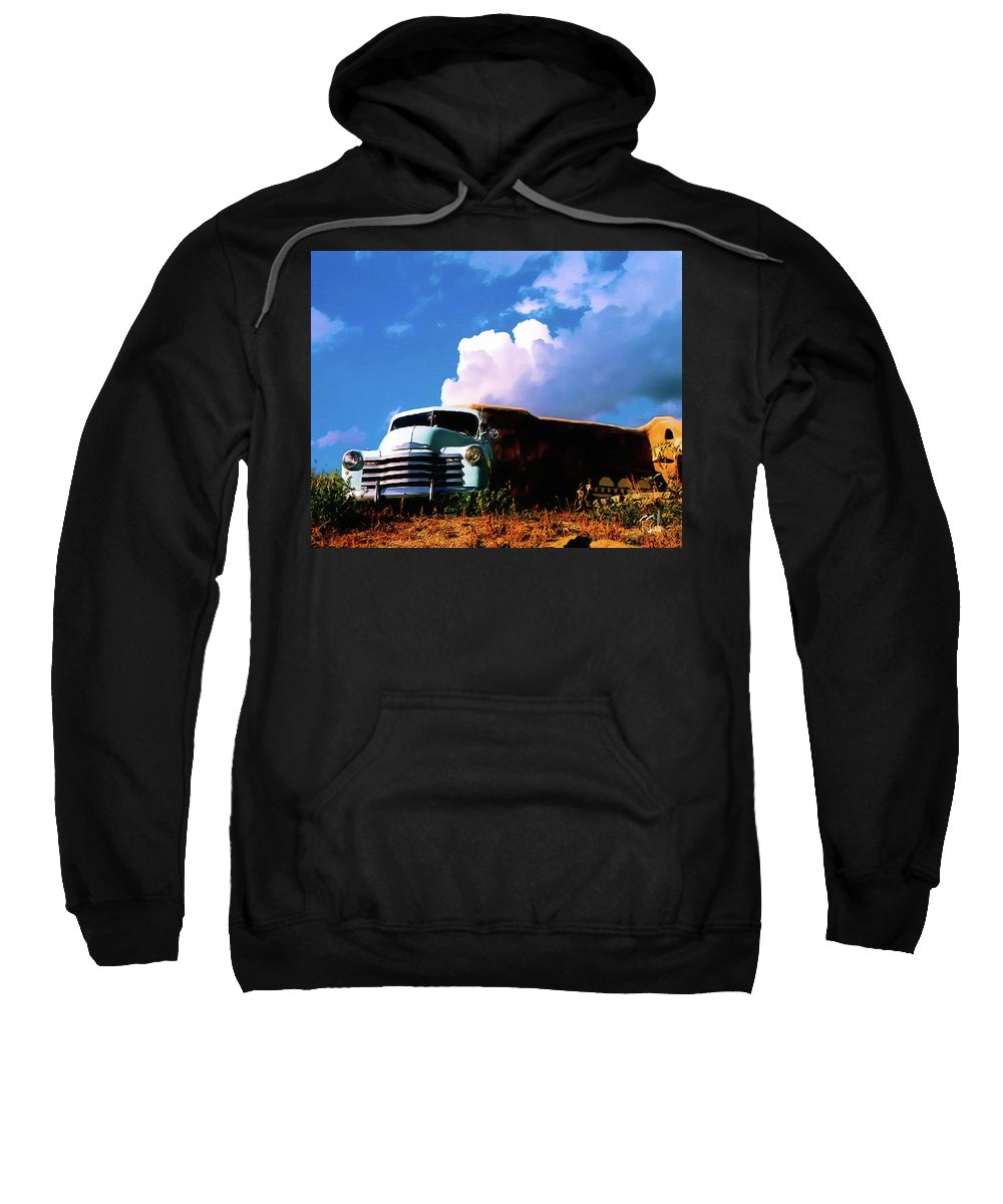 Taos Sweatshirt featuring the photograph Old Taos by Terry Fiala
