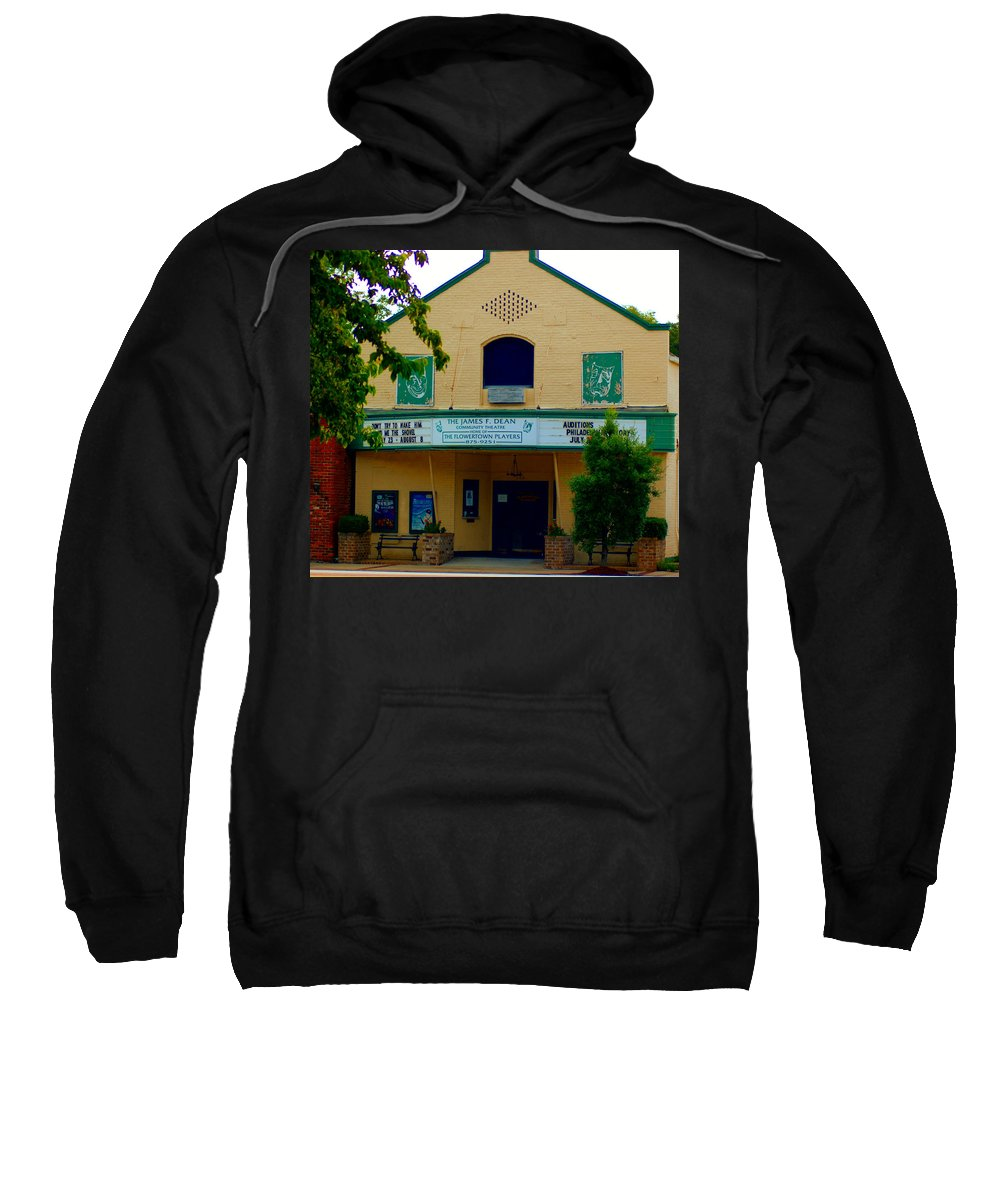 Theater Sweatshirt featuring the photograph Old Town Theater by Donna Bentley