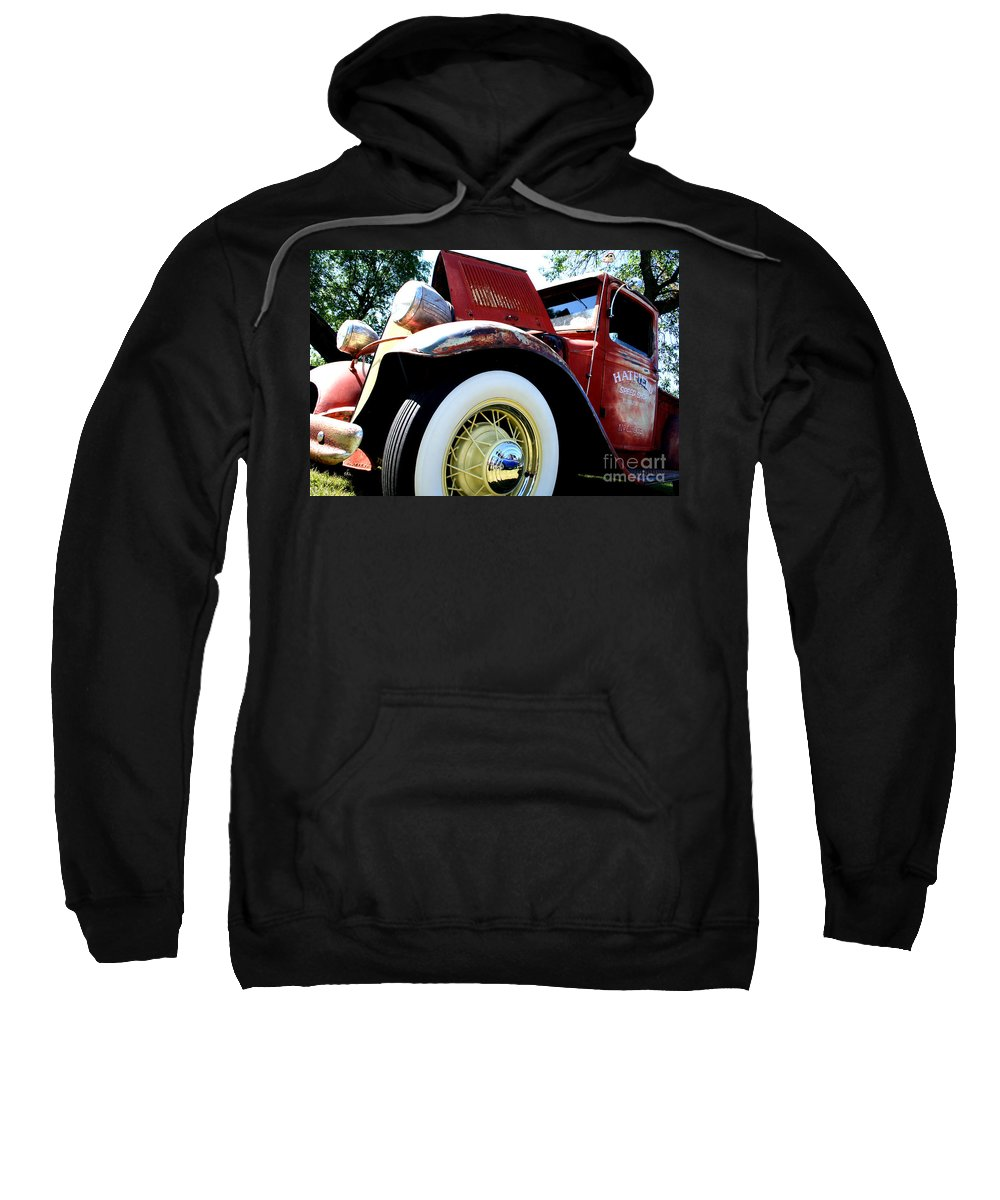 Fish Day Car Show 2010 Sweatshirt featuring the photograph Old Truck by Jamie Lynn
