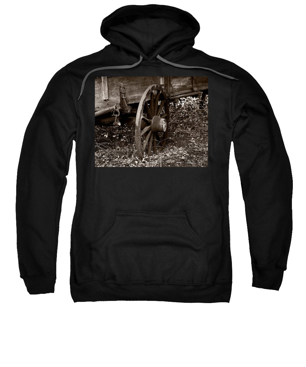 Wheel Sweatshirt featuring the photograph Old Wagon Wheel by Christopher Holmes
