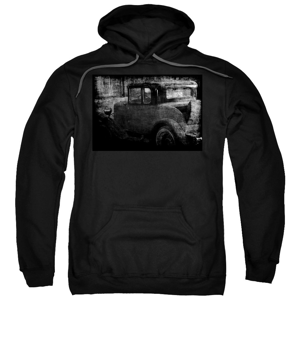 Old Cars Sweatshirt featuring the photograph Oldie 1 Bw by Ernie Echols