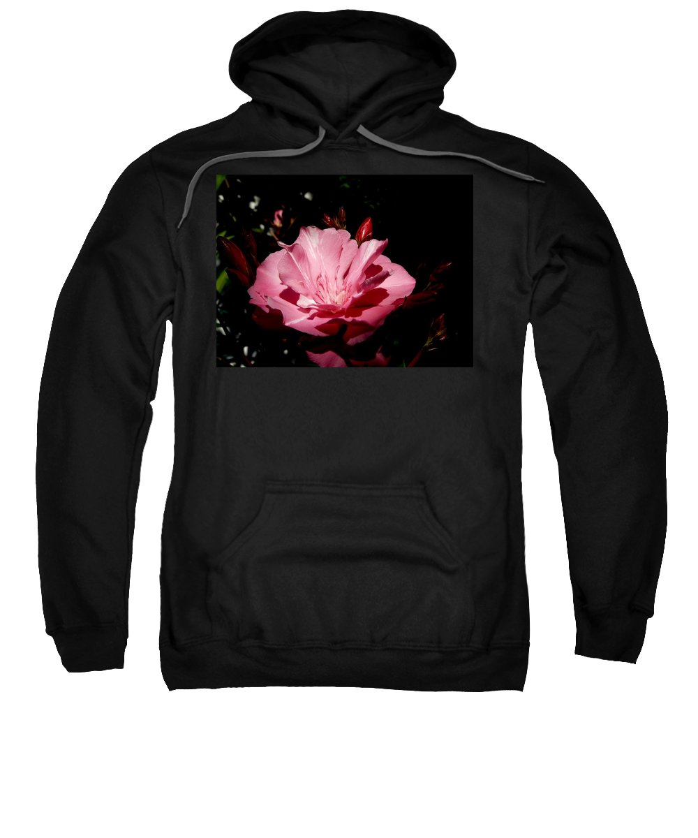 Plant Sweatshirt featuring the photograph Oleander Bloom by Valerie Ornstein