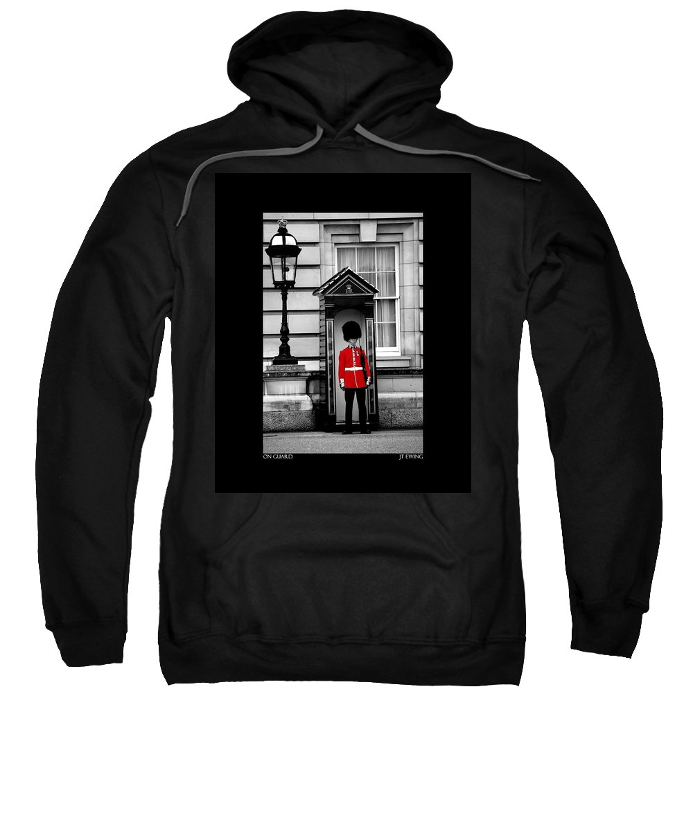 London Sweatshirt featuring the photograph On Guard by J Todd