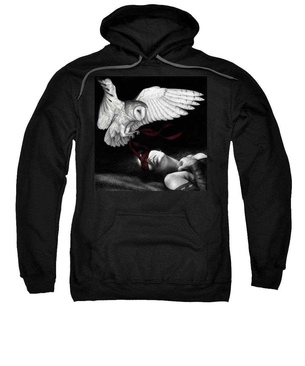 Woman Sweatshirt featuring the painting On Silent Wings by Pat Erickson