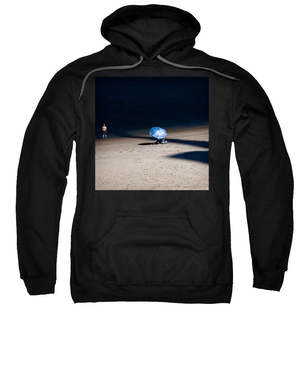 Beach Sweatshirt featuring the photograph On The Beach by Dave Bowman