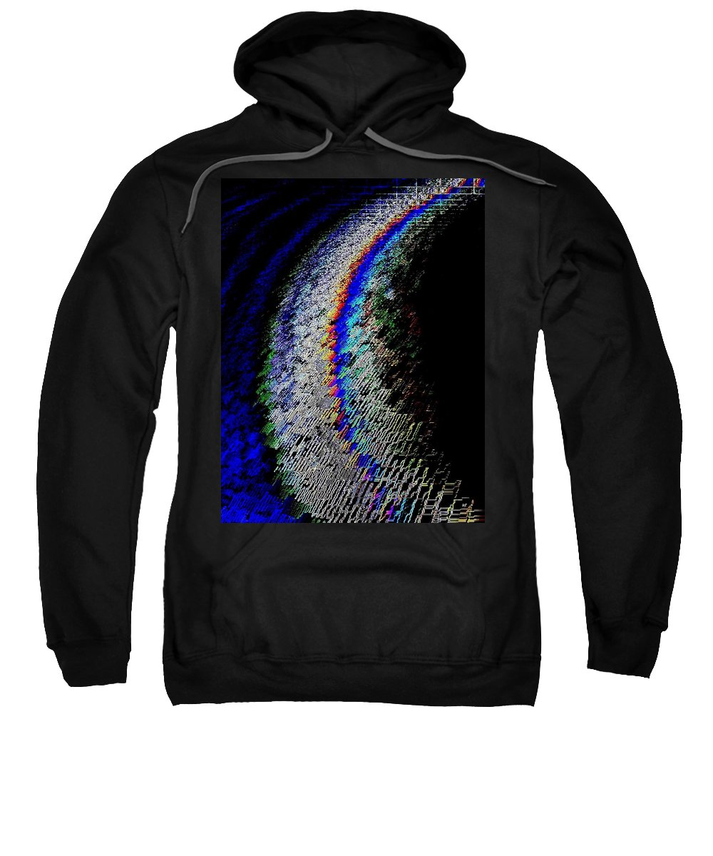Abstract Sweatshirt featuring the digital art On The Periphery by Will Borden